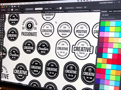 "Branding | ""Personal Branding Badges"" freelance drawing doodle illustration personal brand badge logo branding design"