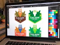 "Illustrations | ""Wellness Badges - Salads for a Week"""