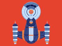 "Illustration | No. 4 - InterGalactiCon ""Space Ship"""