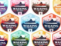 "Badges | ""Wellness Journey Merit Badge: Walking For a Week"""
