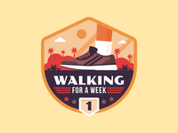"Badges | ""Wellness Journey: Walking for a Week No.1"""