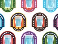 "Badges | ""Wellness Journey: Drinking Water"""