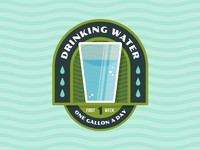"Badges | ""Wellness Journey: Drinking Water No.1"""