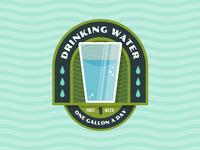 "Badges | ""Wellness Journey: Drinking Water No.1"""