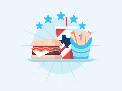 Illustrations | My Fort Bend Burger website food texas burger vector color illustration branding design