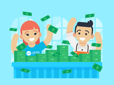"Illustration   ""Money Money Money"" able lending money drawing vector exploration style freelance illustrator illustration design"