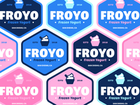 "Branding | ""FROYO Badge Color Exploration"""