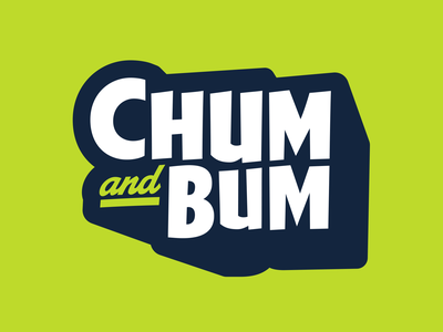 Branding | Chum & Bum typography exploration vector freelance fun logotype kids startup color mark logo branding design
