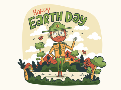 Illustration | Earth Day 2019 drawing style vector character ranger nature earth earth day adobe draw freelance color illustrator doodle fun illustration design
