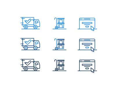 Illustration | Moovd Icons icon illustration movers moving icons set icons colorful vector style freelance branding color illustrator doodle fun illustration design