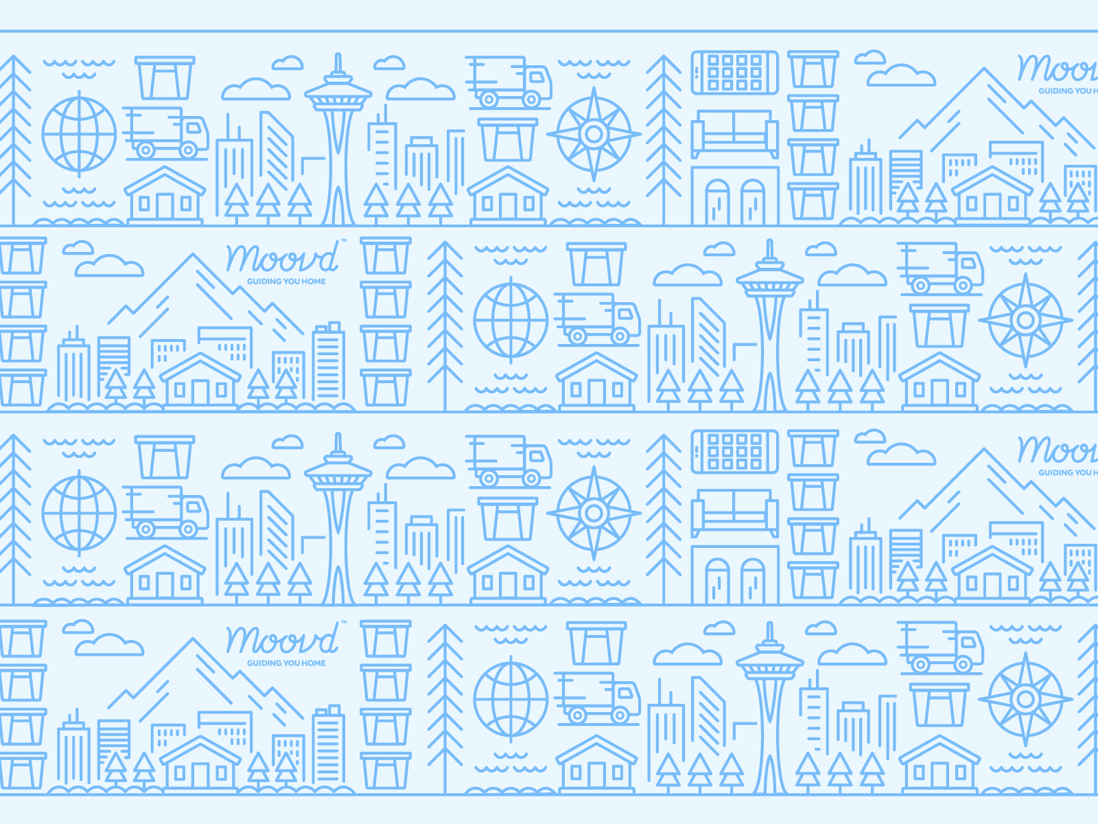 Dribbble rocky roark moovd illustration pattern