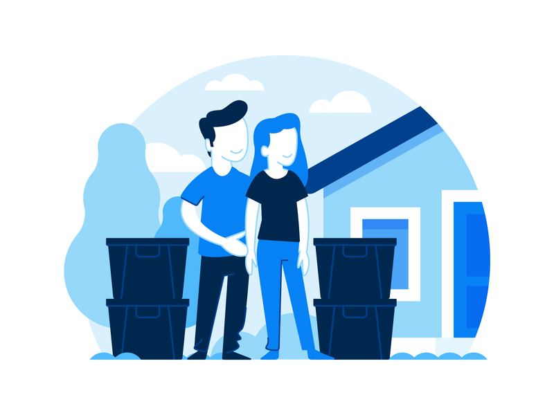 Illustration   Moovd Spot Illustration Test illustration style moving company movers moving colorful character exploration vector freelance color illustrator doodle fun illustration design