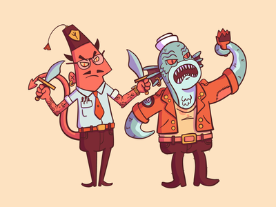 Illustration | Bad Guys Club Characters