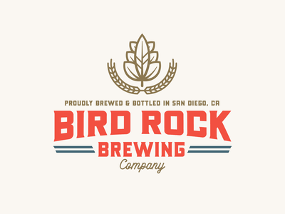 "Branding | ""Bird Rock Brewing Co. No.1"" bird san diego beer logo brewery logo badge logotype master logo beer label beer branding hipster hops brewing company brewing brewery beer typography freelance branding logo design"