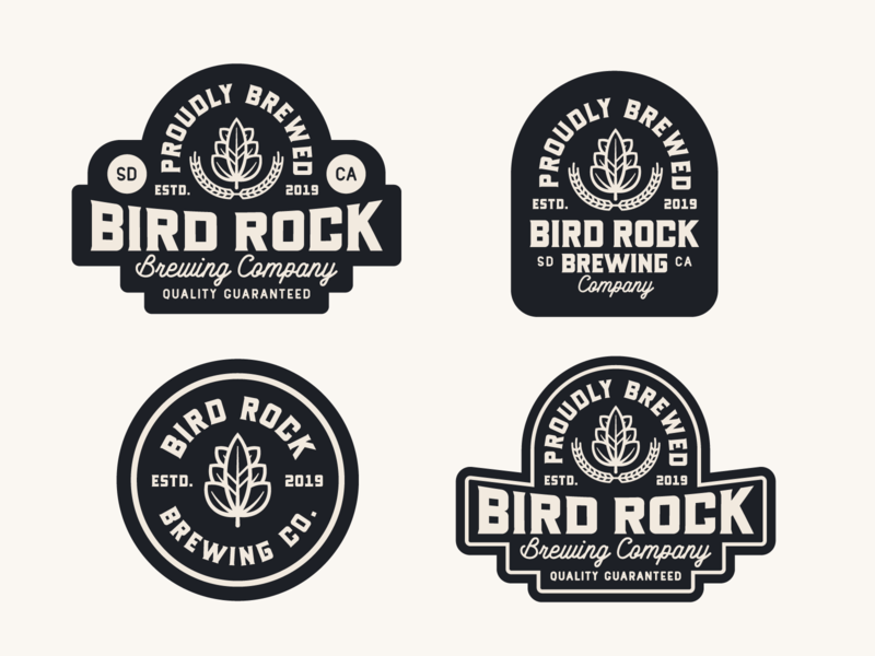 "Branding | ""Bird Rock Brewing No.2"" badges beer badges beer branding beer logo beer label beer brewery logo brewery branding brewery typography logo exploration freelance branding vector illustration design"