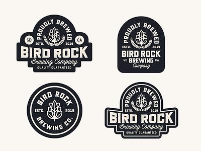 "Branding | ""Bird Rock Brewing No.2"" badges beer badges beer branding beer logo beer label beer brewery logo brewery branding brewery typography logo exploration freelance branding vector illustration design"