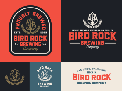 "Branding | ""Bird Rock Brewing No.3"""