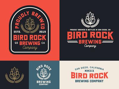 "Branding | ""Bird Rock Brewing No.3"" branding design san diego brewery branding brewery logo badge design badges beer branding beer logo brewery beer mark logo typography exploration style freelance branding illustration design"