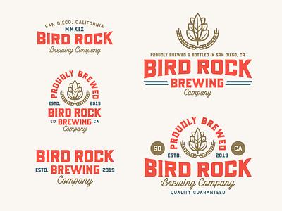 """Branding   """"Bird Rock Brewing No.4"""" beer art san diego branding design beer label beer logo brewery logo badge design badges logo beer branding brewery beer typography exploration style freelance branding illustration design"""