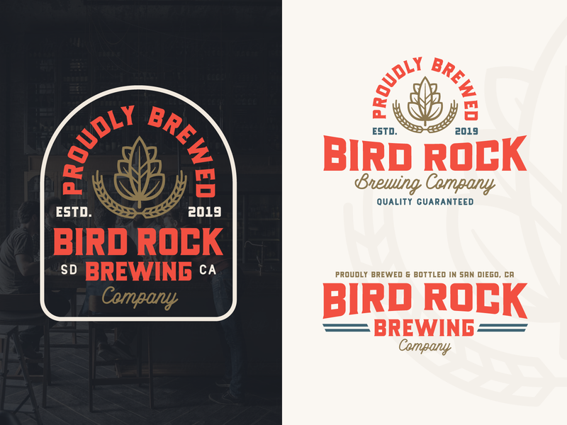 "Branding | ""Bird Rock Brewing No.6"" beer branding beer logo beer label san diego brewing company brewing brewery beer badge logo badges badge design typography logo vector style freelance branding design"