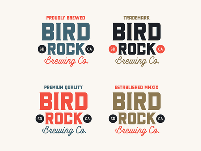"Branding | ""Bird Rock Brewing No.8"" san diego brewery logo badge beer logo beer brewing company brewery typography logo exploration vector style freelance branding illustrator illustration design"