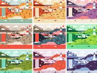 Illustration| Fisherman's Cove Color Study