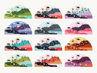 Illustration | Micro Scene No.3 (Color Studies)