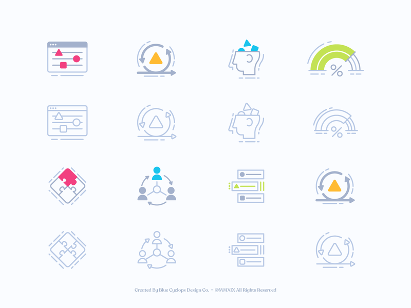 Sureify | Illustrated Icons No.1 iconography style icons vector freelance branding color illustrator illustration design
