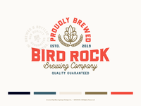Branding | Bird Rock Brewing Co. Collection No.1 brand identity visual brand braanding design brewery branding beer label design beer label beer can brewery beer beer branding badge design typography exploration vector freelance illustrator branding design