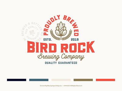 Branding | Bird Rock Brewing Co. Collection No.1 brand identity visual brand braanding design brewery branding beer label design beer label beer can brewery beer beer branding badge design typography exploration vector freelance illustrator branding design