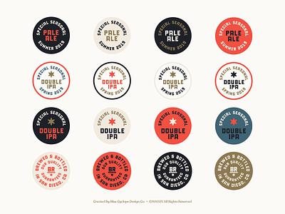 Branding | Bird Rock Brewing Co. Collection No.2 logo design branding logodesign logos stickers badge design badges exploration vector freelance branding typography logo doodle illustration design