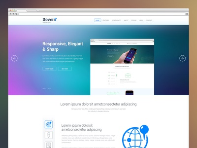 Seven7 Landing Page landing page psd landing page landing page design ios7 based design seven7 landing page ios7 related design