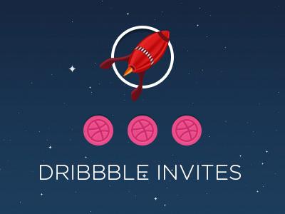 3 Dribble Invites dribbble invites invites invitation dribbble invitation invitations dribbble invitations