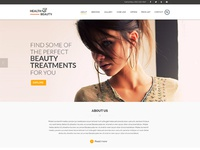 Health & Beauty Homepage Mockup PSD