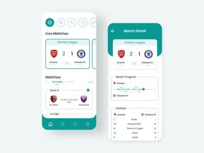 Sport Match App live match soccer ux minimalist app solid clean simple healthy mobile design mobile ui basketball football sport app sport design ui design ui