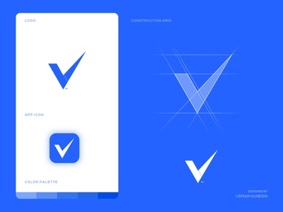 Vipipay - Logo Design logotype appstore product branding ui  ux app ui brand identity logo design logomark branding appstore playstore app icon money transfer logo blue and white digital money monogram money app payment app money payment