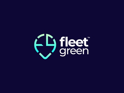 Fleet Green - Logo Design dribbble best shot location pin graphic design creative logo modern green fleet fleet management colorful gradient logo logotype designer typography logotype brand identity design logo app icon logo design logomark branding brand identity