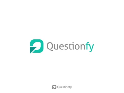 Questionfy - Logo Design typography surveys survey recruitment questionfy question logo q letter logo logomark logo design logo lettermark icon green graph forms feedback dashboard branding brand identity app icon