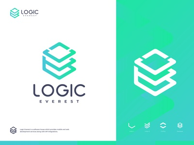 Logic Everest - Logo Design typography symbol startup software house software development logomark logotype logo design logical logic lettermark letter s letter a graphicdesign gradient brand identity designer dots circle logo branding brand identity