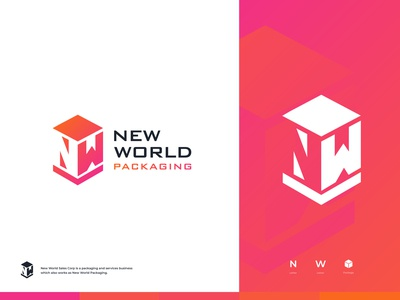 New World - Logo Design illustration gradient logo letter logo letter mark nw logo transportation package packaging corporation sales brand identity designer brand identity design branding agency logodesign logo branding design brand identity branding brand