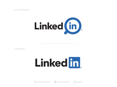 LinkedIn - Logo Redesign linked in brand identity design branding brand identity modern design concept design redesign-tuesday logo design icon design search icon job application simple refresh redesign concept redesign rebranding rebrand modern logo linkedin