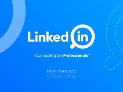 LinkedIn Logo Redesign - Behance Case Study linkedin logo fresh look magnifying glass simple search icon refresh redesign-tuesday redesign concept redesign rebranding rebrand modern logodesign logo linked in linkedin job application icon design concept design branding