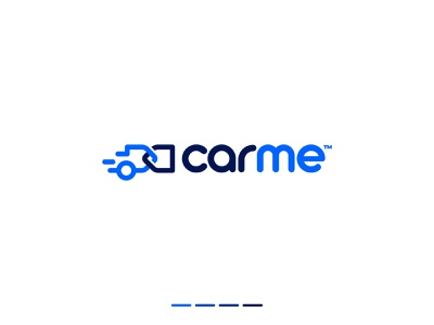 CarMe - Logo Concept typography logo design car sales automotive dealer logos lines buy and sell automobile speedway car motor app icon auto dealer connection overlap branding identity stripes geometric