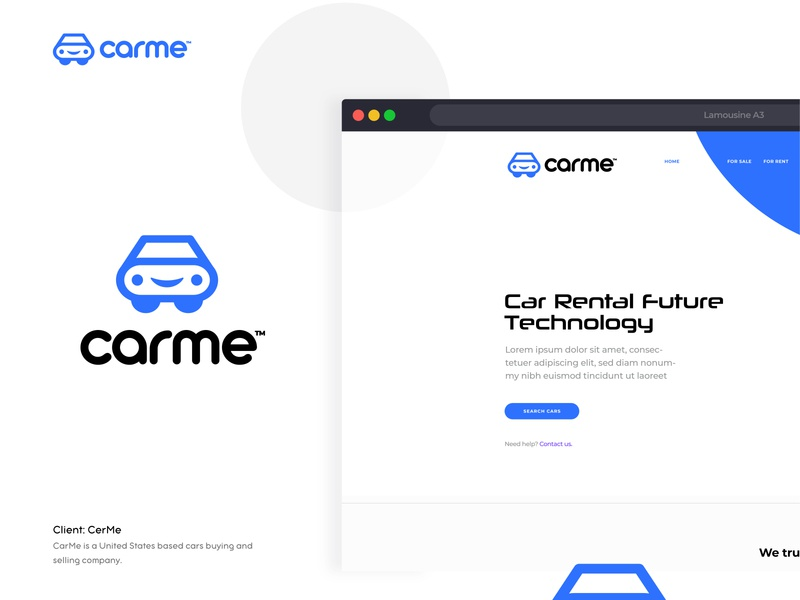 CarMe - Logo concept pt.2 leasing typography idenity abstract modern auto dealer motor speedway buy and sell dealer car sales auto automobile logo branding service iconic engine car automotive