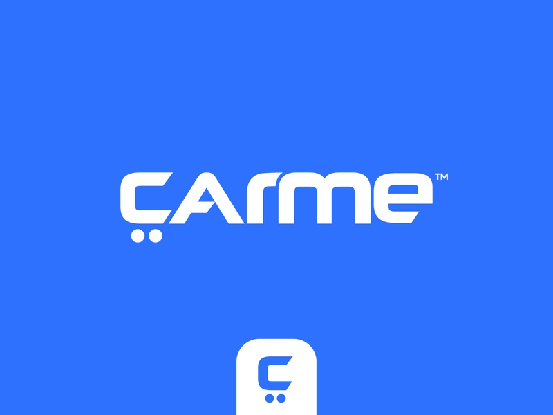 CarMe - Logo concept pt.3 vw lettering identity typography ui audi branding rent car letter c wordmark logotype motor auto buy and sell automobile automotive leasing car dealer car sales car