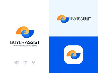 BuyerAssist - Logo Design golden ratio internet b2b b2c c2b c2c saas ai iot app b2b seller assist buyer logo branding identity business task team manager software collaboration corporation startup online workplace