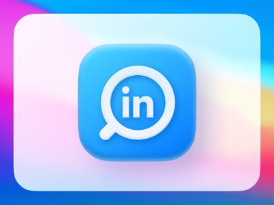LinkedIn redesign concept iphone ios14 neumorphic 3d apple frosted glass glass effect brand identity branding modern rebranding rebrand redesign concept search app store icon design app icon concept design linkedin connected