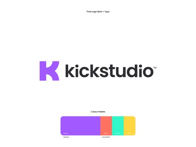 Kick Design Studio modern logo colorful typography logomark digital marketing agency digital marketing creative creative agency agency website agency studio creative studio agency branding business agency web design branding agency uiux website creative direction creative art