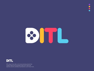 DITL Logotype Concept mark cinema concept design d letter logo design vector illustration ui logotype brand identity branding logo logo design colorful clever logo video camera camera logo documentary video filmmaker