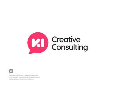 KI Creative Consulting - Logo Concept monogram mark identity visual identity ux ui logotype typography logo design logo brand identity branding growth business consultant consulting logo coach career startup service